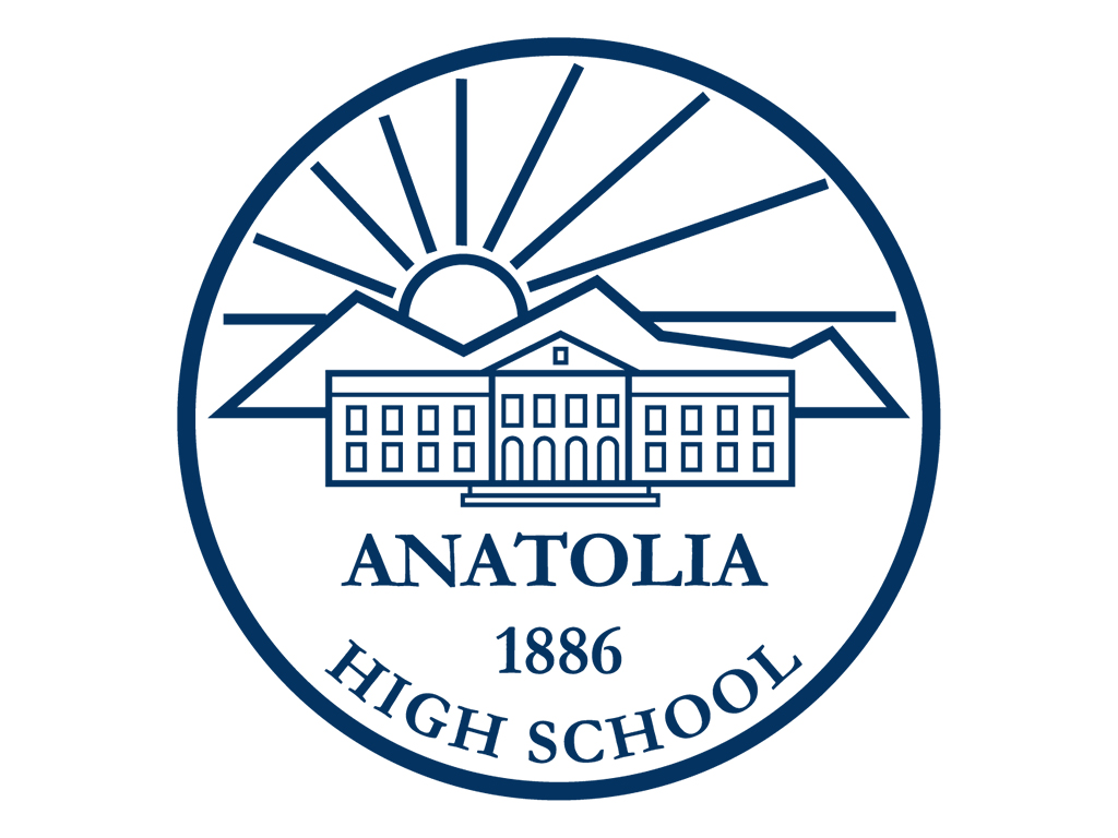 anatolia highschool logo blue