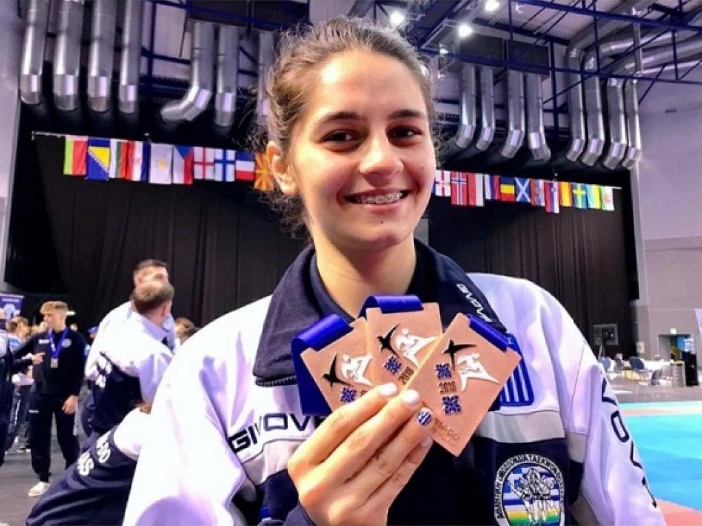 Χάλκινη πρωταθλήτρια Ευρώπης στο Tae Kwon Do